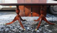 1960s Mahogany Dend Dining Table with 4 Leaves (4 of 4)