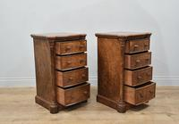 Pair of Walnut Bedside Chests of Drawers attributed to Gillows (4 of 7)