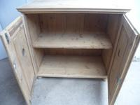 Superb Victorian 2 Door Antique Pine Kitchen / Food Cupboard to wax / paint (6 of 11)