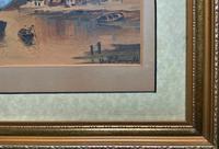 Wonderful Original 19th Century Antique Seascape Landscape Watercolour Painting (10 of 12)