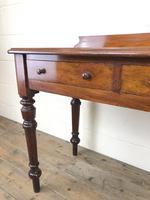 Antique Victorian Mahogany Two Drawer Side Table (14 of 15)