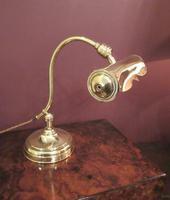 Antique Edwardian Polished Brass Adjustable Desk Lamp (6 of 6)