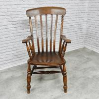 Large Windsor Lathback 'Grandfather' Armchair (2 of 5)
