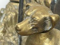 Victorian Brass Hunting Dog Fire Companion Set (8 of 40)