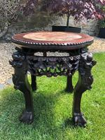 Chinese Hongmu Jardinière or Side Table with Marble Inset, Antique (6 of 16)