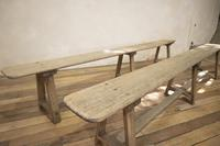 Large Scale 19th Century French Sycamore & Oak Farmhouse Table & Benches (18 of 19)