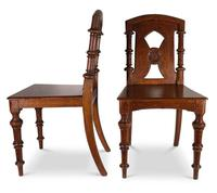 Pair of English Hall Chairs (5 of 6)