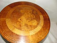 Italian Sorrento Walnut Inlaid Tripod Table (3 of 8)