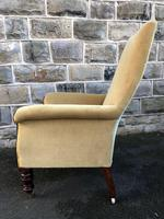 Antique Mahogany Library Armchair (6 of 10)