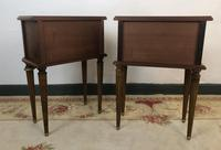 Vintage French Mahogany Cabinets Bedside Tables (8 of 14)