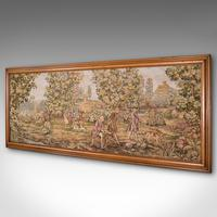 Large Antique Panoramic Tapestry, French, Needlepoint, Decorative Panel c.1910 (3 of 12)