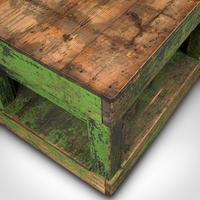 Large Antique Factory Mill Table, English, Pine, Industrial, Victorian c.1900 (8 of 10)