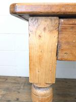 Victorian Antique Pine Farmhouse Kitchen Table (7 of 10)