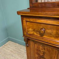 Superb Quality Victorian Mahogany Antique Glazed Secretaire Bookcase On Cupboard (6 of 8)