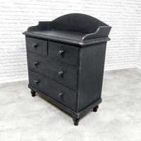Black Painted Victorian Chest of Drawers (5 of 5)