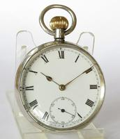 Antique Swiss Silver Pocket Watch, 1919 (5 of 5)