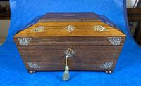 William IV Rosewood Jewellery Box with Inlays (5 of 12)
