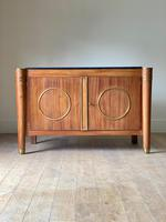 Elegant French Mid Century Modernist Fossil Marble Topped Commode (8 of 10)