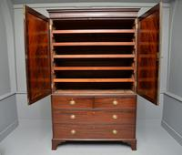 Georgian Flame Mahogany Linen Press / Wardrobe (6 of 13)