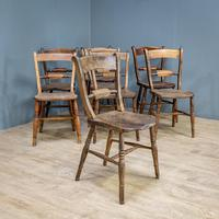 Set of 8 Elm Dining Chairs