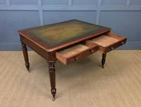 Victorian Mahogany 4 Drawer Partners Writing Table (10 of 13)