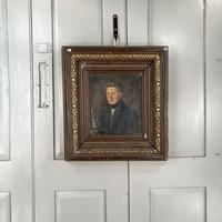 Antique Belgian Flemish Oil Painting Portrait of Polydoor Lippens