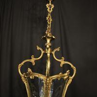 Italian Gilded Bronze Four Light Lantern (7 of 10)