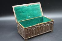 Beautifully Cast Late 19th Century Continental Bronze Jewellery Box (4 of 6)