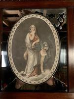 Superb early Austrian mahogany Biedermeier trumeau mirror (13 of 13)
