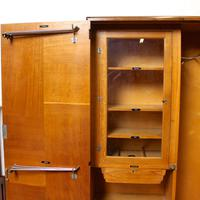 Compactum Oak Wardrobe Antique Vintage Gents Armoire (4 of 14)