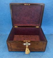 Victorian Walnut Jewellery Box c.1860 (13 of 14)