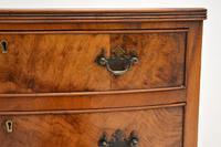 Antique Burr Walnut Bow Front Chest of Drawers (9 of 9)