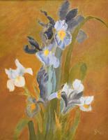 Still Life Oil Painting of Irises (4 of 6)