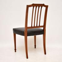 Set of 4 Antique Mahogany & Leather Dining Chairs (5 of 11)