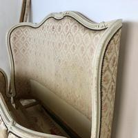 Antique French Full Corbeille King Size Bed Frame Curved Headboard & Footboard (3 of 13)