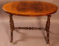 Victorian Burr Walnut Window Table (2 of 6)