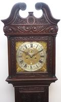 Early 18th Century Longcase Clock Fine English Oak  James Smith Grandfather Clock Brass Dial c.1720 (10 of 10)