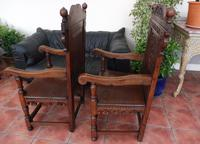 Pair of Victorian country oak wainscot chairs (Free shipping to Mainland England) (7 of 10)