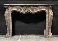 Important French Louis XV Marble Fireplace (13 of 13)