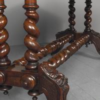 Antique Oak Flemish Writing Table (10 of 15)
