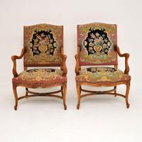 Pair of Antique Carolean Style Needlepoint Armchairs (3 of 12)