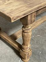 Nice Large Bleached Oak Farmhouse Dining Table With Extensions (10 of 35)