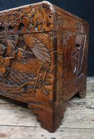 Oriental Carved Camphor Wood Chest c.1910 (8 of 12)