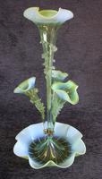 Antique Victorian Green Vaseline Glass Epergne (7 of 16)