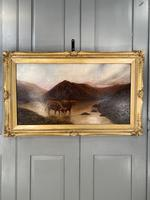 Antique Scottish landscape oil painting with Highland Cattle signed M Allinson 1 of 2 (9 of 10)
