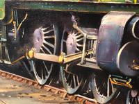 Oil Painting Railway Train Engine Princess Margaret 4056 Signed Ken Allsebrook (19 of 30)