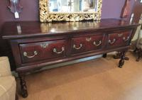George II Period Oak Three Drawer Dresser (10 of 14)