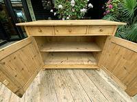 Large Old Pine Dresser Base Sideboard / Cupboard /  TV Stand - We Deliver (7 of 9)