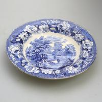 Dillwyn & Co Swansea -Pottery Plate in Blue & White Transferware c.1820 (3 of 5)