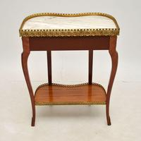 Antique French Marble Top Kidney Side Table (11 of 11)